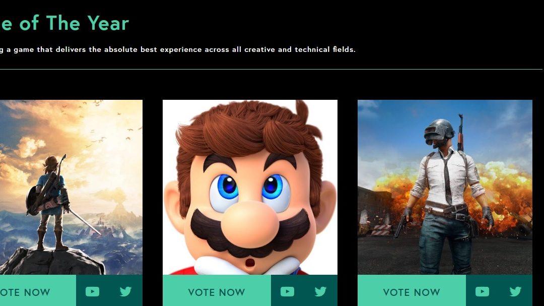 Zelda, Mario, Horizon y Destiny 2 lideran las nominaciones en The Games Award