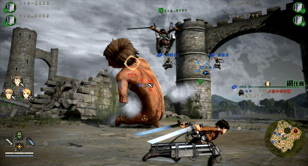 Attack on Titan 2 enseña nuevas imágenes del Multijugador, entre otras cosas