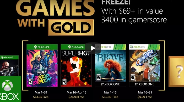 SUPERHOT y Trials of the Blood Dragon entre los Juegos con Gold para marzo