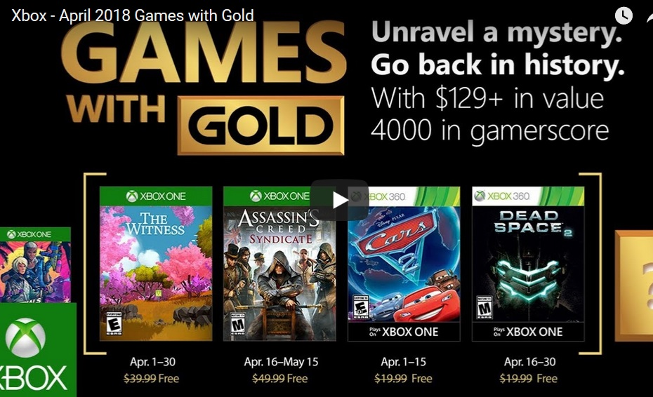 The Witness y Assassin's Creed Syndicate se suman al catálogo de Juegos con Gold de abril