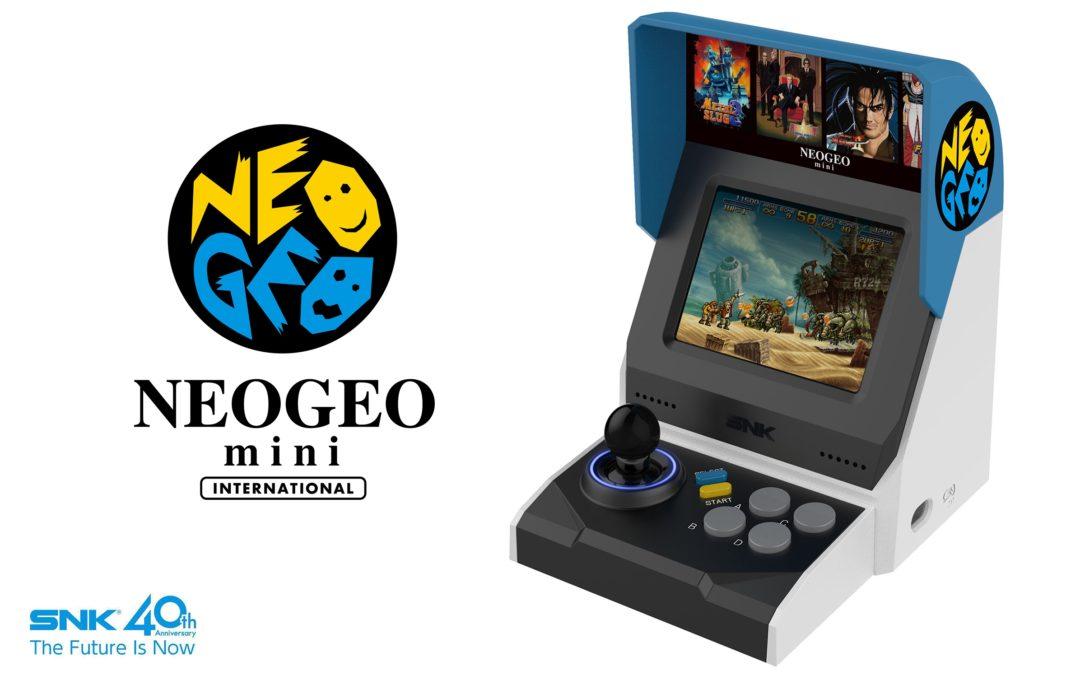 La Neo Geo Mini de SNK ya es oficial e incluirá 40 juegos clásicos