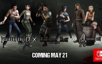 Resident Evil 1, RE 0 y RE 4 a la venta el 21 de mayo en Switch
