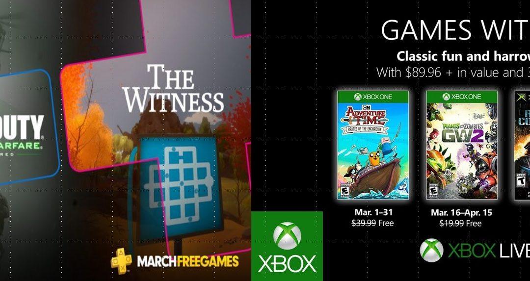 Los juegos de PlayStation Plus y Juegos con Gold para marzo