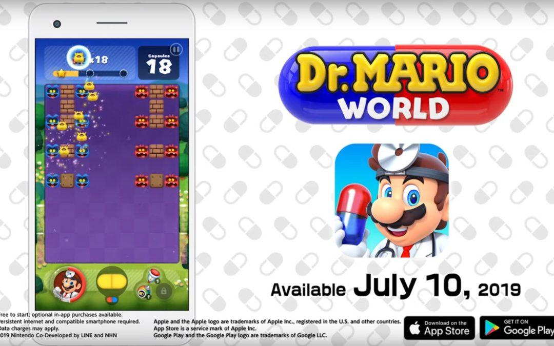 Dr. Mario World llegará a iOS y Android el 10 de julio