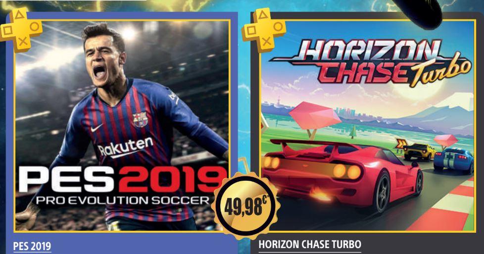 Pro Evolution Soccer 2019 y Horizon Chase Turbo para PlayStation Plus en julio (Actualización PES sustituido por Detroit)