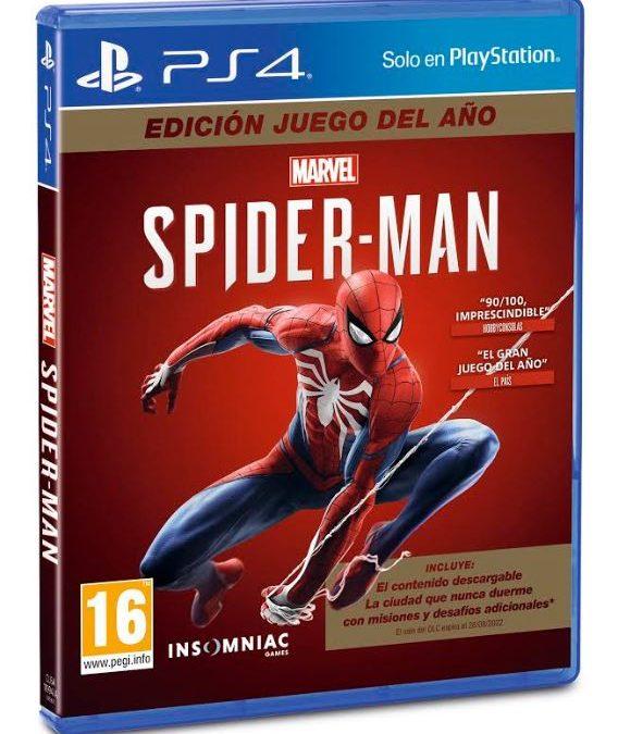 Edición Juego del Año para Marvel's Spider-Man ya disponible
