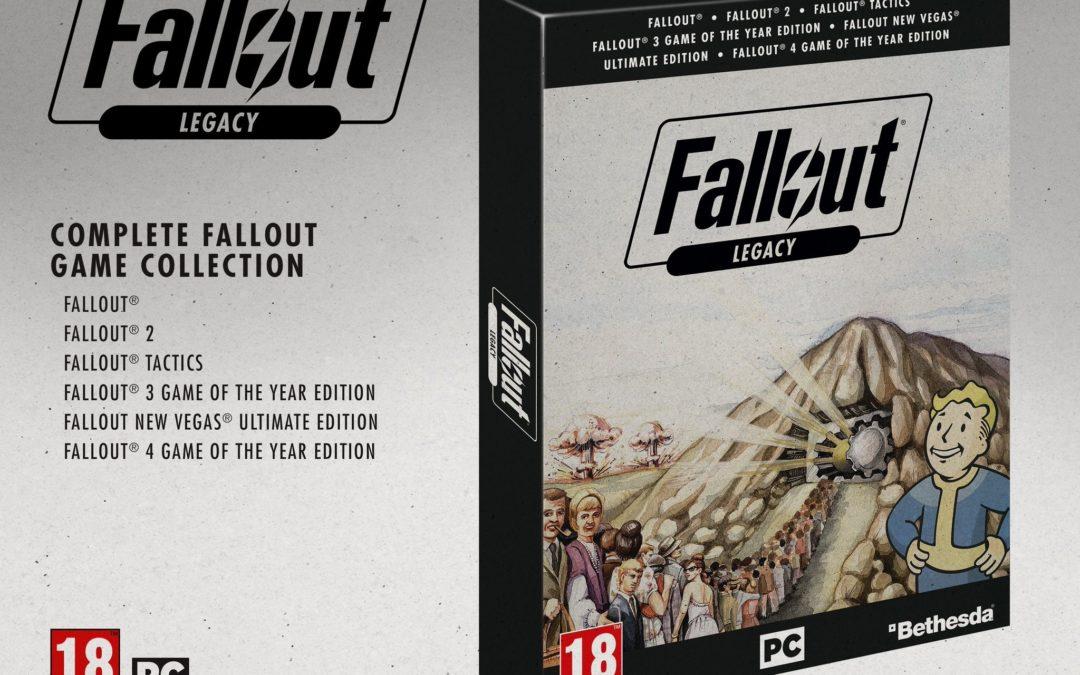 Fallout Legacy, un paquete con todos los Fallout que solo saldrá en Reino Unido y Alemania