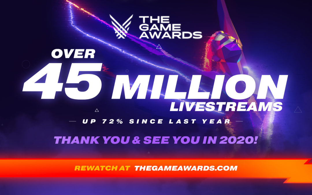 The Game Awards crece y la última gala gozó de 45 millones de retransmisiones