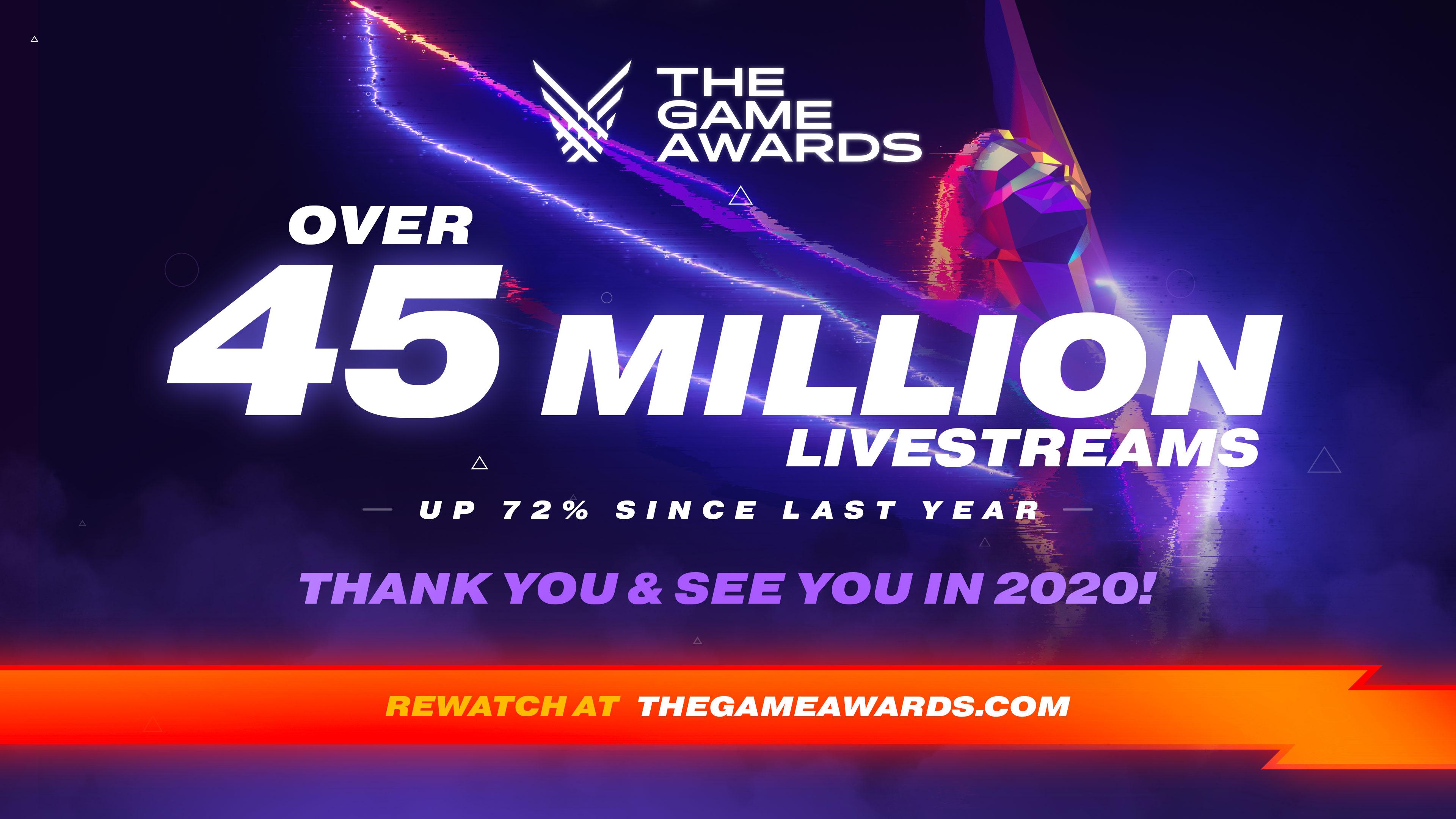 The Game Awards crece y la última gala gozó de 45 millones de retransmisiones