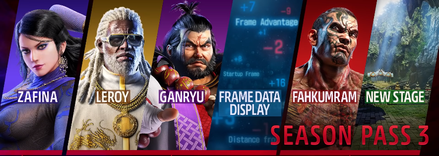 Leroy, Ganryu y Fahkumram se unen al plantel de Tekken 7