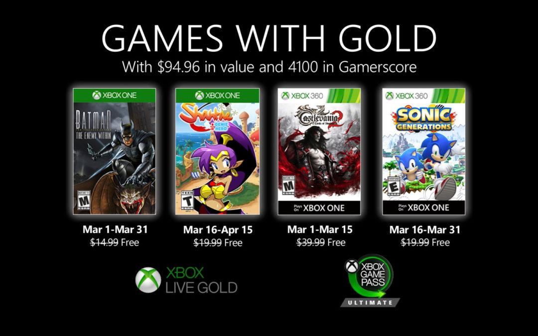 Juegos de PlayStation Plus y Games with Gold para marzo