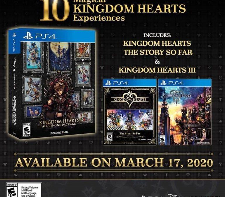 Kingdom Hearts All-In-One Package, una recopilación para Playstation 4 con todos los videojuegos de la serie