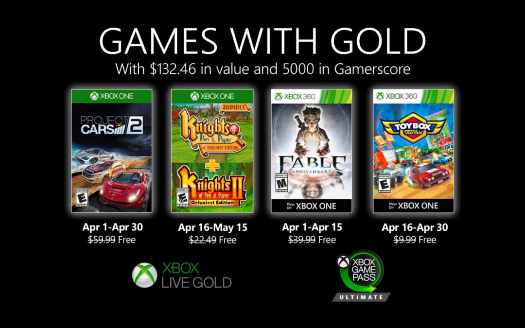 Juegos de PlayStation Plus y Games with Gold para abril