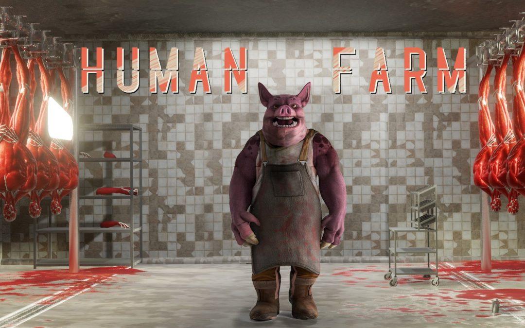 Controla a un cerdo con una granja de humanos en Human Farm
