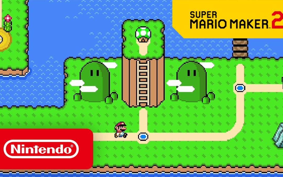 Una actualización para Super Mario Maker 2 permite la creación de mundos