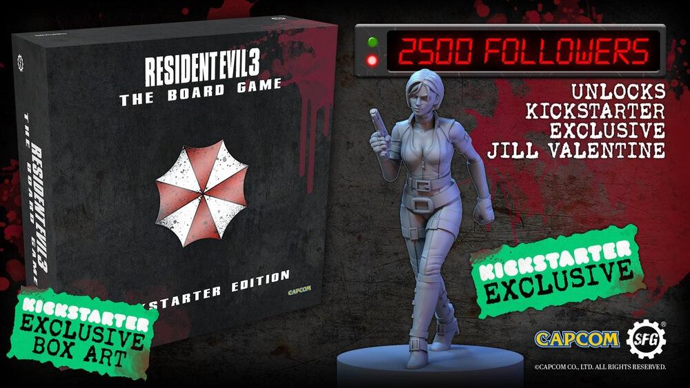 Resident Evil 3 presenta su juego de mesa este 28 de abril en Kickstarter