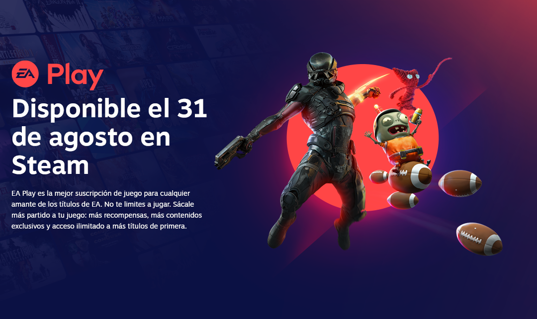 EA Play llegará a Steam el próximo 31 de agosto