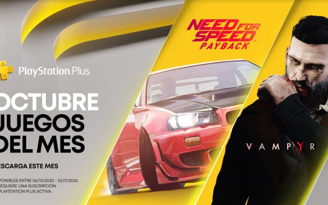 Vampyr y Need for Speed Payback serán los juegos de PlayStation Plus para octubre
