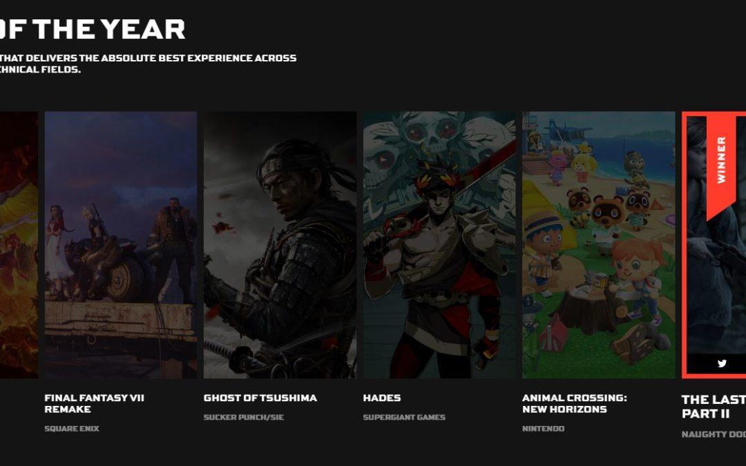 The Last of Us Parte II se hace con el premio a juego del año en TGA (resto premiados dentro)