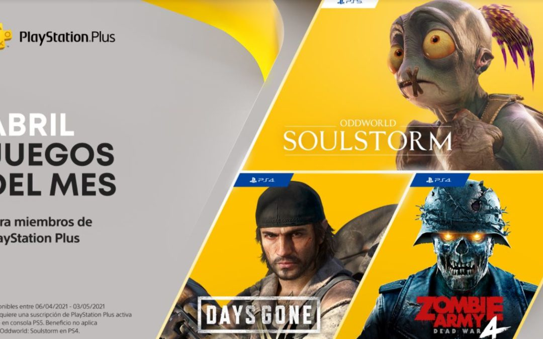 Anunciados los juegos de PlayStation Plus y Games with Gold para abril