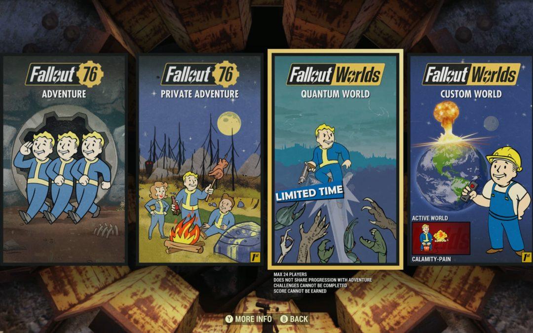Fallout 76 permitirá crear mundos personalizados en su próxima actualización
