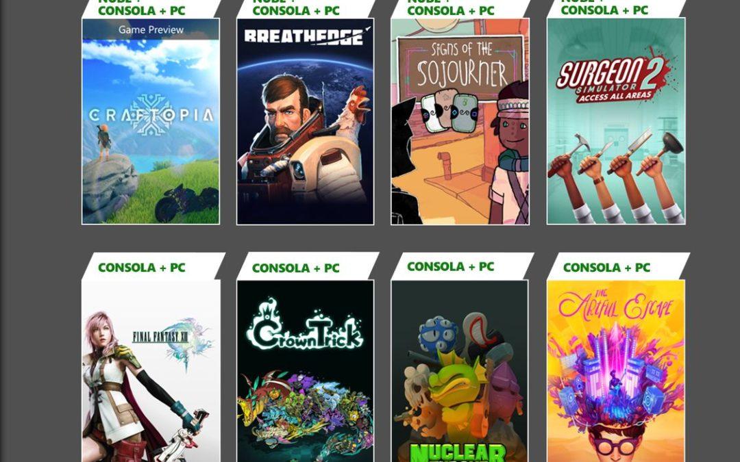 Juegos de septiembre para Xbox Game Pass y PlayStation Now