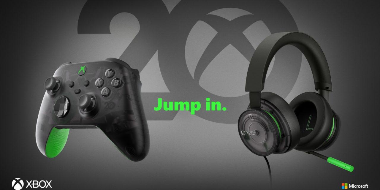 Presentados un mando y unos auriculares para conmemorar el 20 aniversario de Xbox